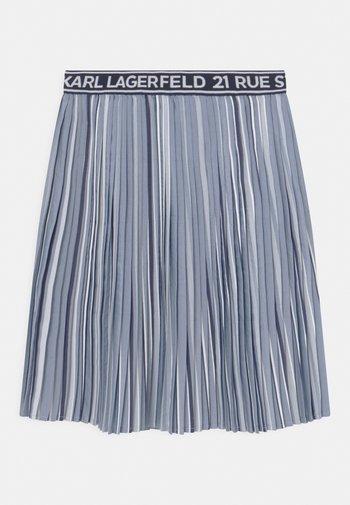 Plisovaná sukně - chambray