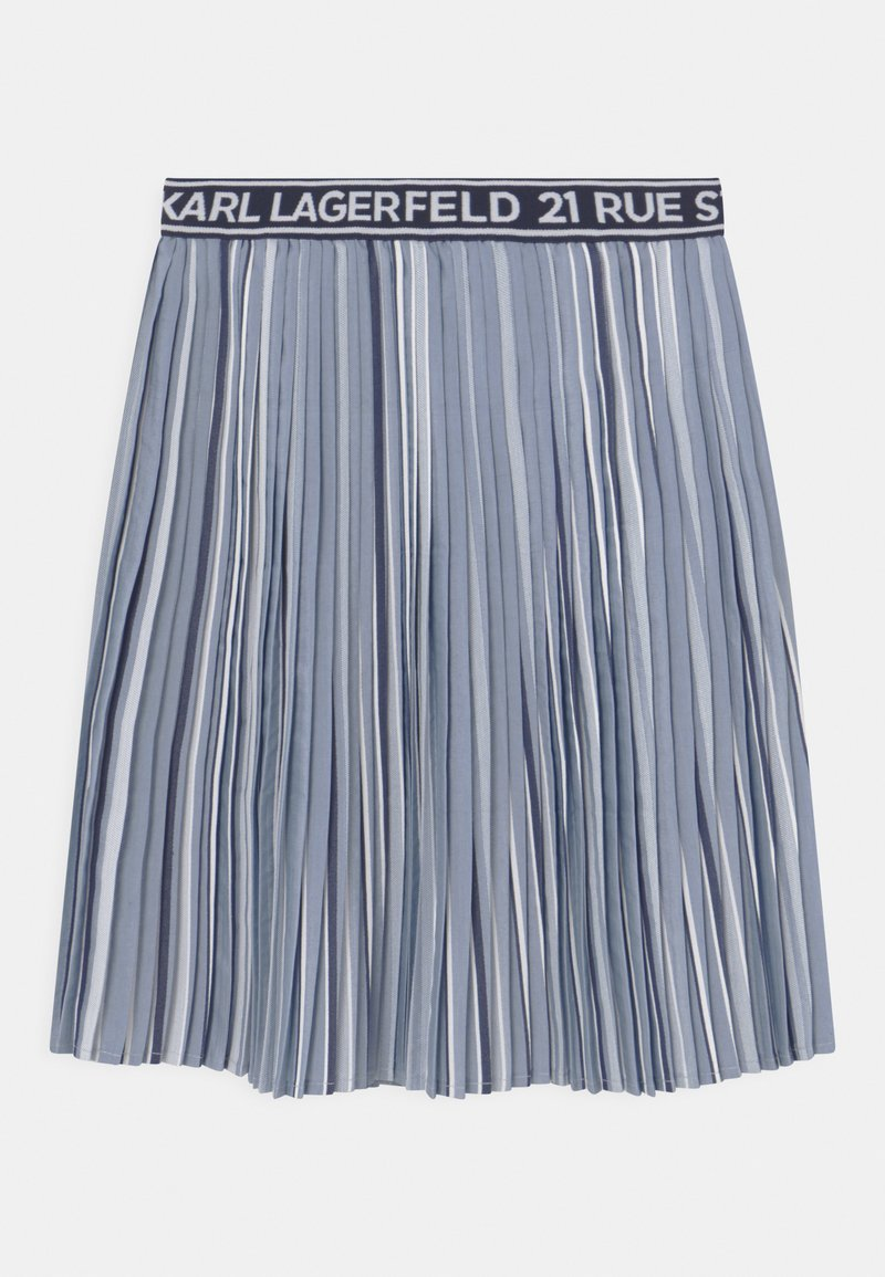 KARL LAGERFELD - Pleated skirt - chambray