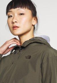 The North Face - WOMENS WOODMONT RAIN JACKET - Hardshell jacket - new taupe green - 3