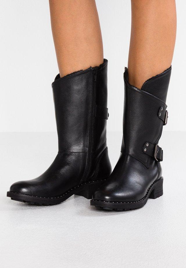 ANCLOU - Kovbojské/motorkářské boty - noir