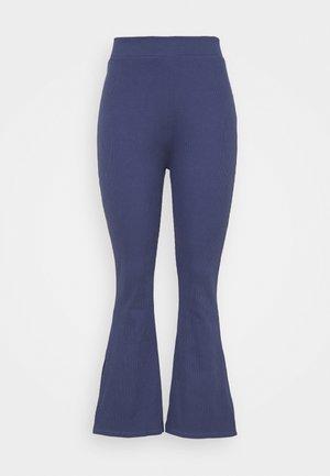 HIGH WAIST FLARE LEGGINGS - Pantaloni - dark blue