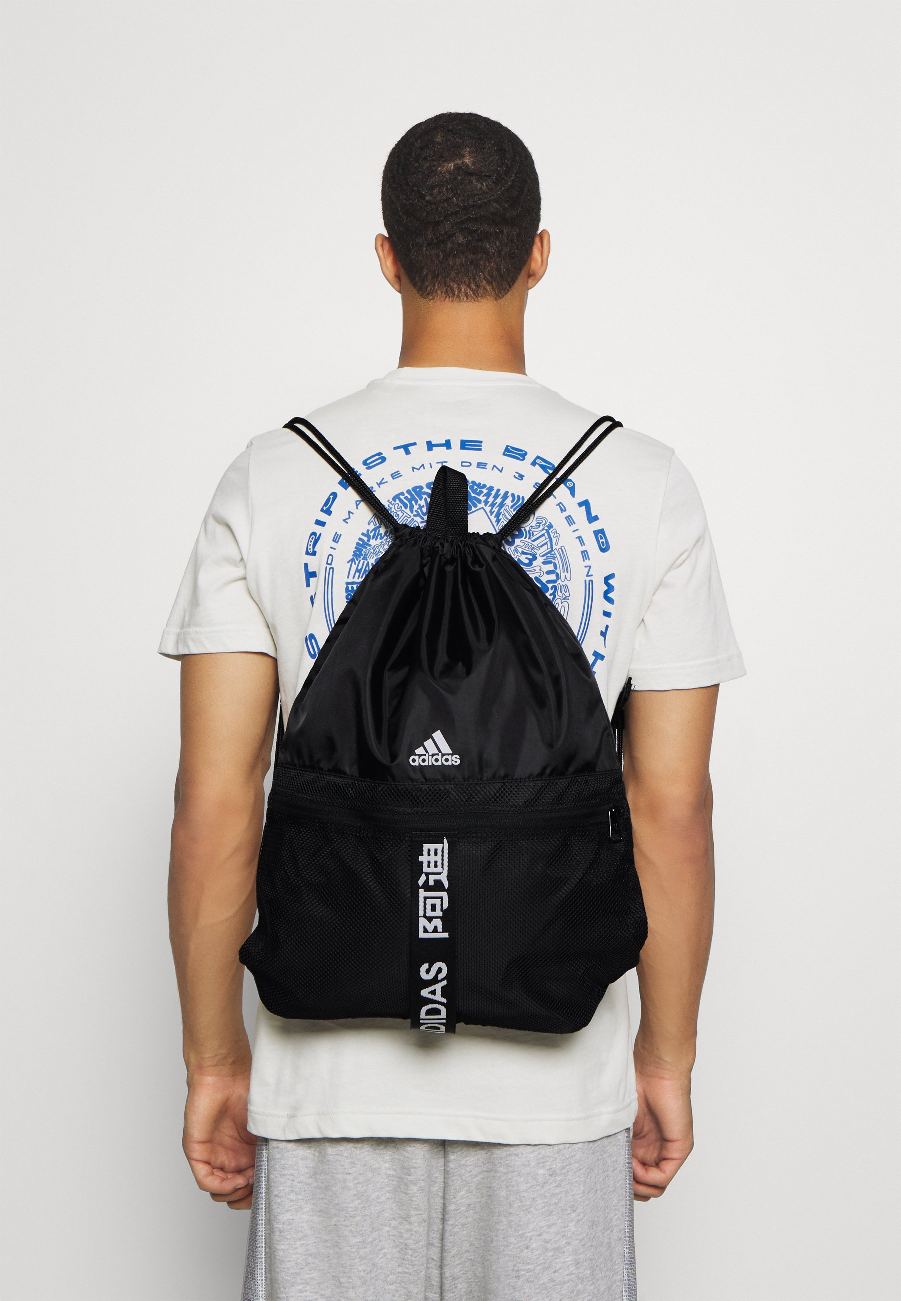 Men 3 STRIPES TRAINING SPORTS GYM SACK UNISEX - Drawstring sports bag