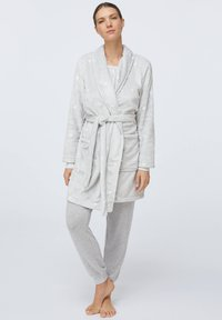 OYSHO - GREY SOFT WITH HEARTS - Accappatoio - light grey - 1