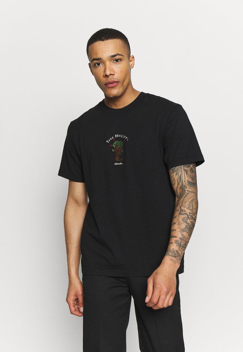 Afends - UNISEX TREE HUGGERS TEE - Print T-shirt - raven