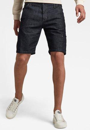 WORKER CHINO DENIN - Denim shorts - rinsed