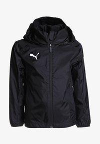 Puma - LIGA TRAINING RAIN JACKET CORE - Hardshell jacket - black/white - 0