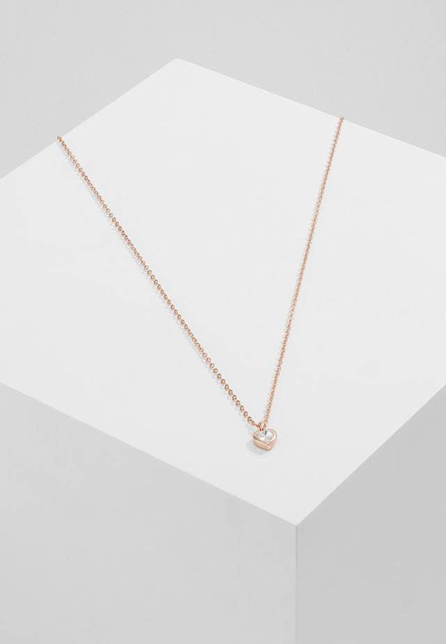 HEART PENDANT - Halsband - rose gold-coloured