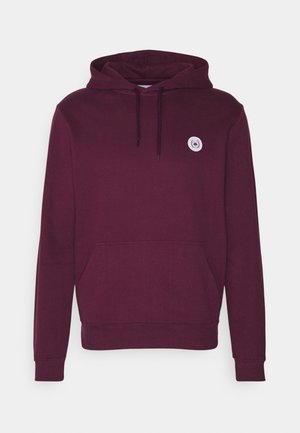 OUR SHAXY PATCH HOOD - Hoodie - bordeaux