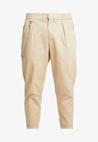 Redefined Rebel - LEE CROPPED PANTS - Trousers - travertine - 3