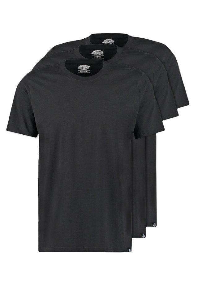 3PACK - T-shirt basique - black