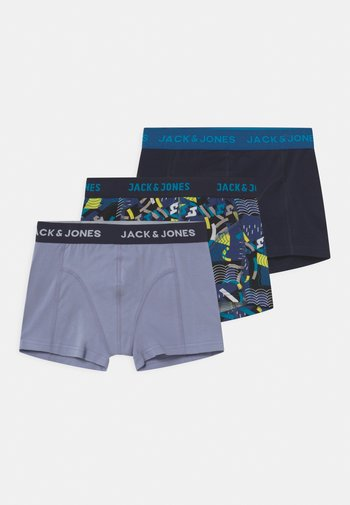 JACBLUEISH 3 PACK - Pants - blazing yellow/navy blazer/purple