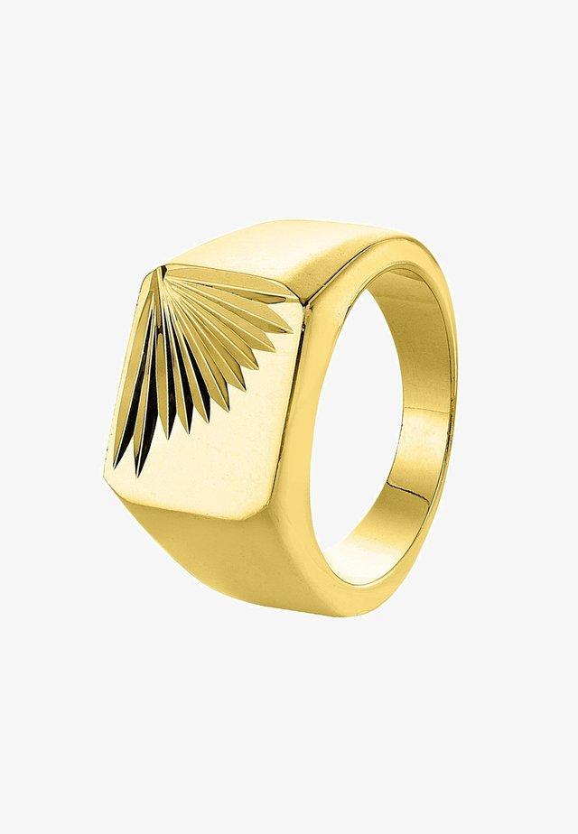 GOLDPLATED ZEGELRING - Bague - goud