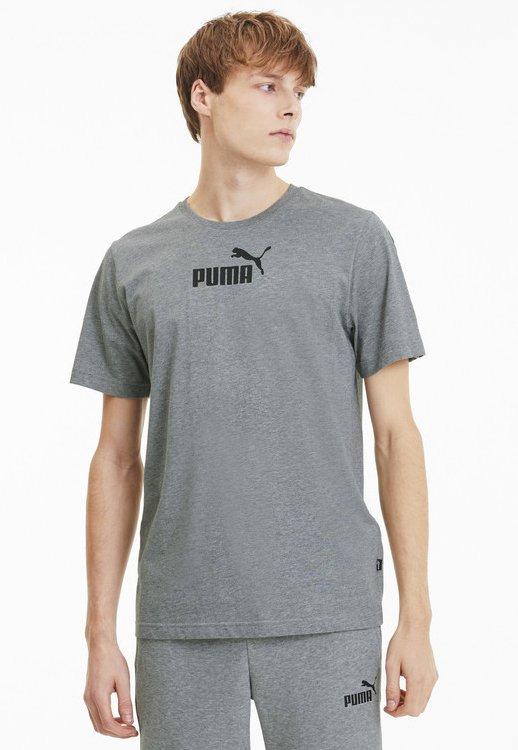 PUMA AMPLIFIED MEN'S TEE MALE - Print T-shirt - medium gray heather