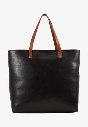 ZIP TOP TRANSPORT TOTE - Tote bag - true black/brown