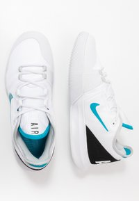 Nike Performance - NIKECOURT AIR MAX WILDCARD - Multicourt tennis shoes - white/neon turquoise/grey fog/hot lime - 1