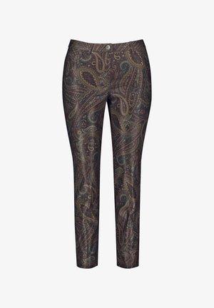 MIT PAISLEY-PRINT - Trousers - black olive gemustert