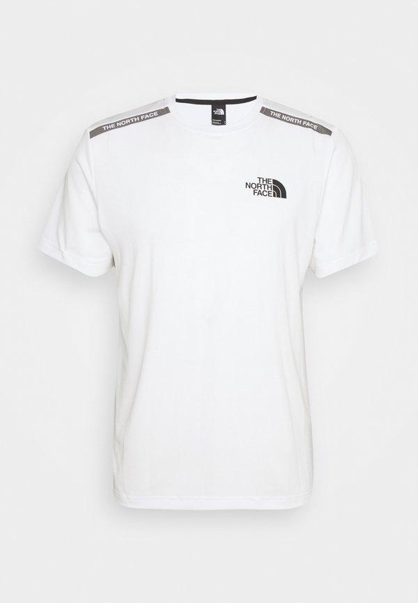 The North Face TEE - T-shirt z nadrukiem - white/biały Odzież Męska GNOI