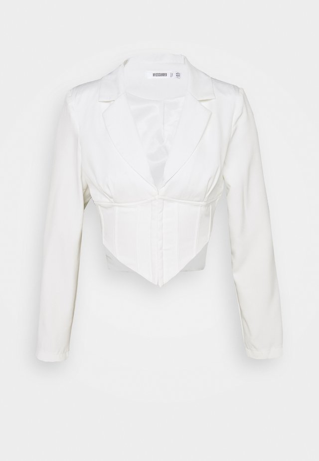 CORSET CROP  - Blazer - white