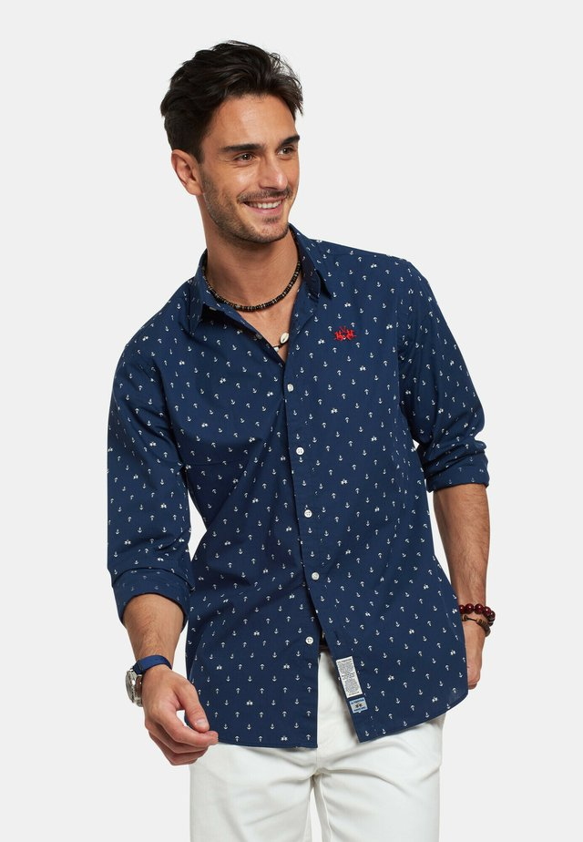 RENO - Camicia - navy/optic white