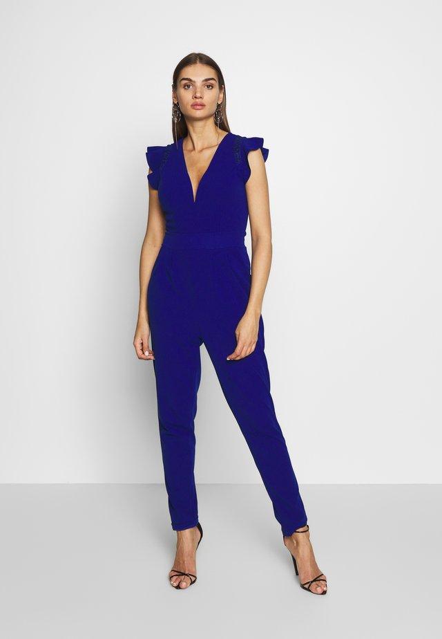 RUFFLE SLEEVE - Jumpsuit - cobalt blue
