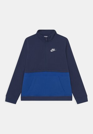 CLUB HALF ZIP - Sweatshirt - midnight navy/game royal/white