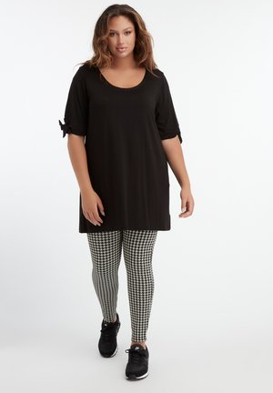 TREGGING WITH HOUNDSTOOTH PATTERN - Leggings - Trousers - multi-color