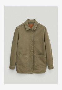 Massimo Dutti - Button-down blouse - khaki - 0