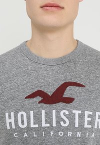 Hollister Co. - ICONIC SOLIDS TEXTURES  - T-shirt med print - light grey - 4