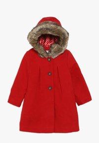 mothercare - BABY FLOW BLEND COAT WITH HOOD - Vinterkappa /-rock - red - 0