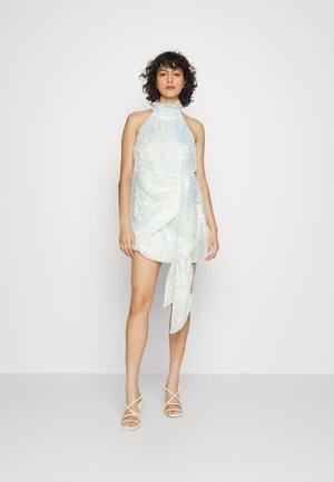 DRAPED HALTER DRESS - Cocktailklänning - white iridescent sequin
