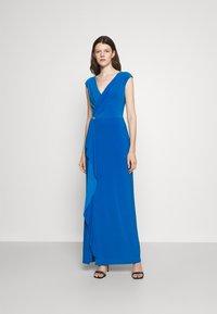 Lauren Ralph Lauren - RYDER CAP SLEEVE EVENING DRESS - Vestido de fiesta - deep bondi blue - 0