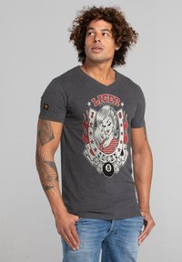 Liger - LIMITED TO 360 PIECES - CLAUDIA HEK - LUCKY - Print T-shirt - heather grey - 3