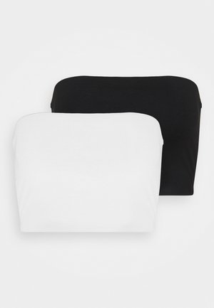 MILA BANDEAU 2 PACK - Toppi - black/white