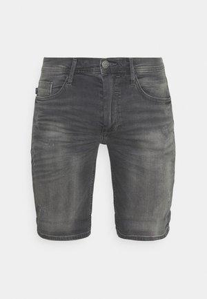 SCRATCHES - Short en jean - denim grey