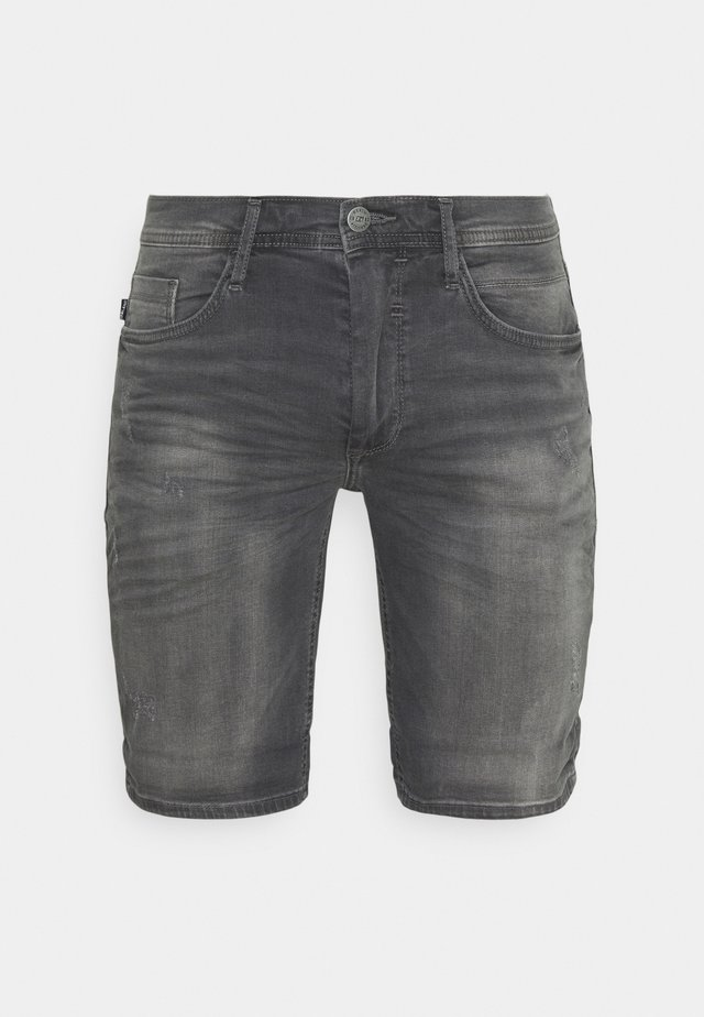 SCRATCHES - Shorts di jeans - denim grey