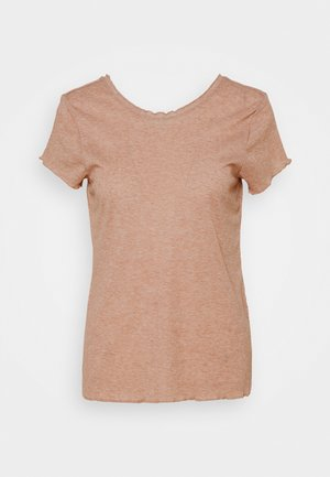 YOGA CORE LAYER - T-Shirt basic - desert dust/heather/fossil stone