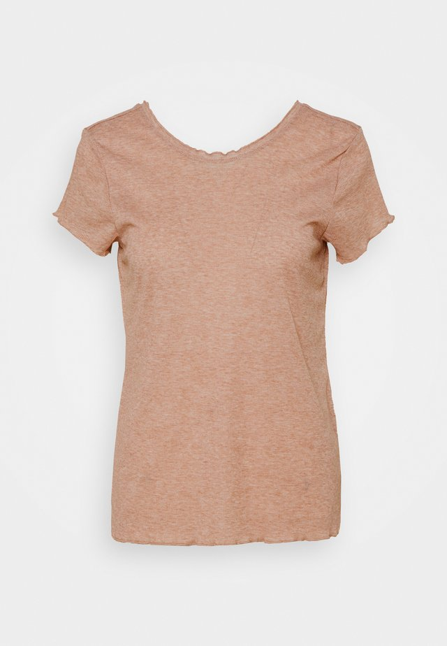 YOGA CORE LAYER - T-shirt basic - desert dust/heather/fossil stone