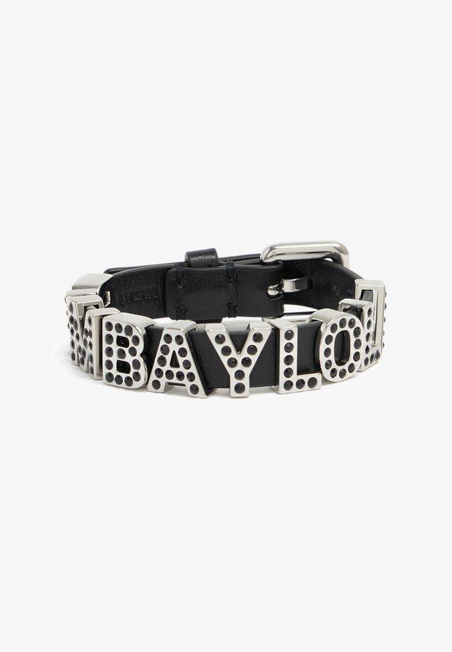 LETTERS - Armband - black