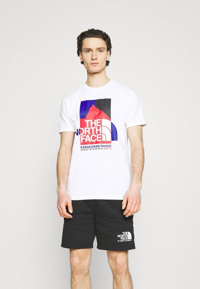 KARAKORAM GRAPHIC TEE - T-shirt imprimé - white