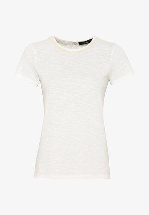 MIT PERLENVERZIERUNG - T-Shirt print - off-white