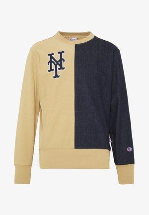 MLB NEW YORK YANKEES CREWNECK - Club wear - beige/dark blue