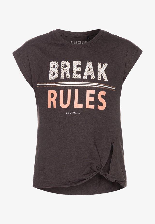 T-shirt print - anthrazite