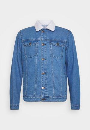 BORG JACKET - Denim jacket - blue
