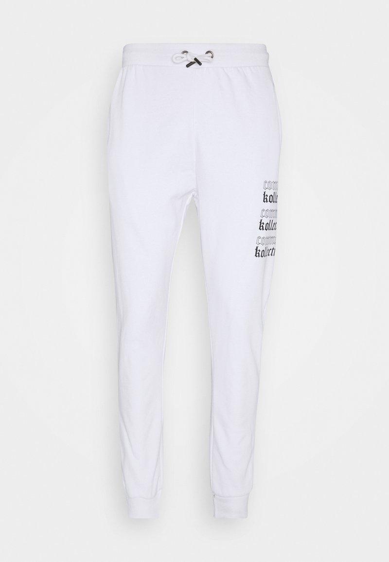 Common Kollectiv - GOTHIC JOGGERS UNISEX - Tracksuit bottoms - white
