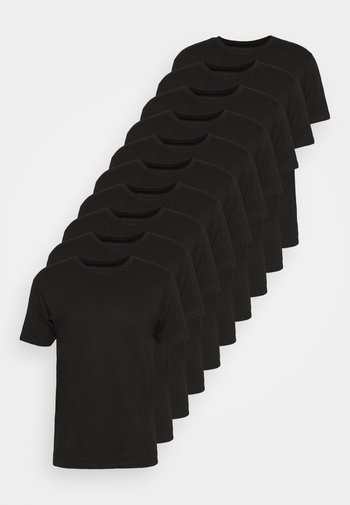 10 PACK  - T-shirt - bas - black