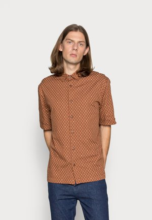 ALL-OVER SHORTSLEEVE - Shirt - brown, multi-coloured