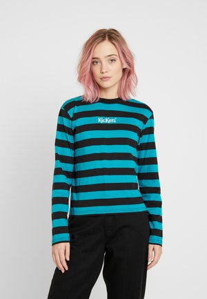 RUGBY STRIPE LONGSLEEVE - Long sleeved top - teal/black