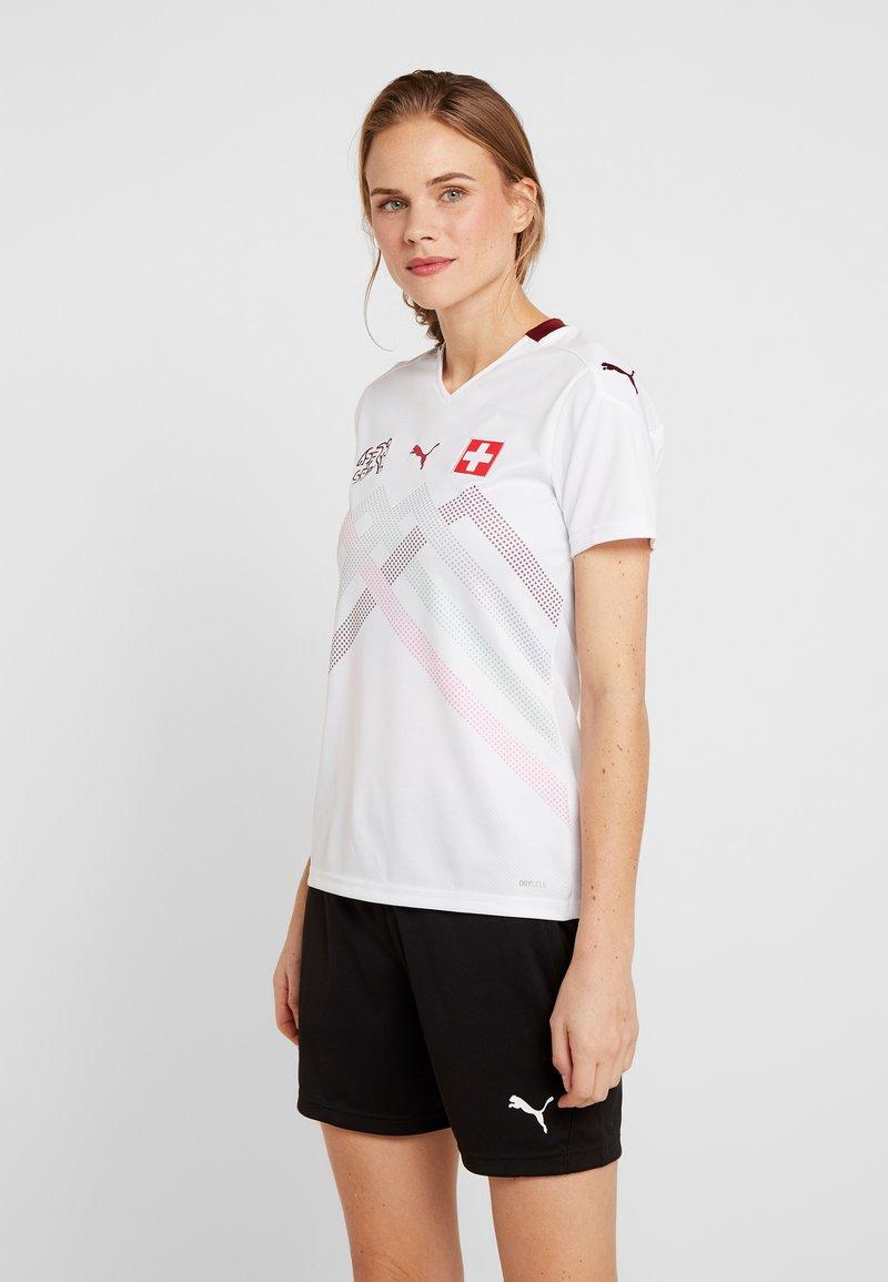 Puma - SCHWEIZ SFV AWAY JERSEY - Club wear - white/pomegranate