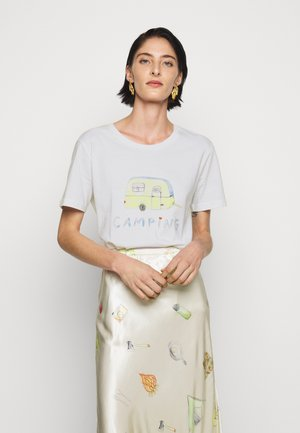 BOBBI - Print T-shirt - white