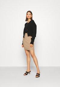 b.young - BYMALTO SHORT SKIRT - Mini skirt - golden sand - 1